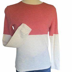 Vince Color Block Crew Neck Shirt